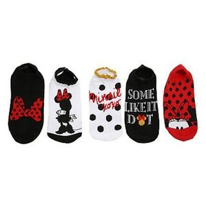 Disney Minnie mouse no show socks 6 pair size 9-11